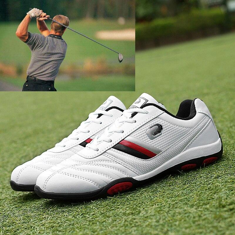 2020 Waterproof Men's Golf Shoes Flat Bottom Men's Comfortable Golf Casual Sports Shoes Professional Sports Golf Coach Brand