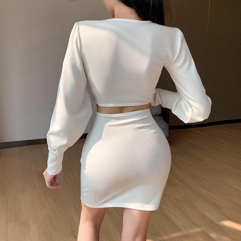 long sleeve white dress11