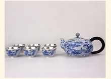 High grade 999Silver Products Hand made Cloisonne Tasting cup Kung Fu Teacup gift for family and friends kitchen office tea set
