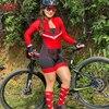 Kafitt ciclismo wear ciclismo wear terno de penetração de bicicleta de montanha feminina camisa de manga comprida apertado ao ar livre roupas esportivas 11