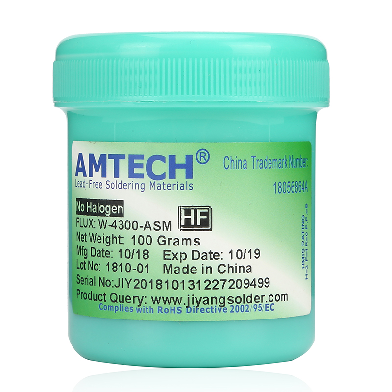 W-4300-ASM Water-soluble Welding Cream AMTECH Original 100G Welding Flux Soldering Paste
