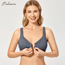 Delimira المرأة الجديدة سلس التغطية الكاملة غير مبطن إغلاق الجبهة الصدرية