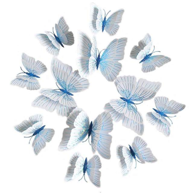12pcs 3d Pearl Paper Butterfly Wall Decor Cute Butterflies Wall Stickers Art Decals Home Decoration Room Wall Art Supplies Wall Stickers Aliexpress