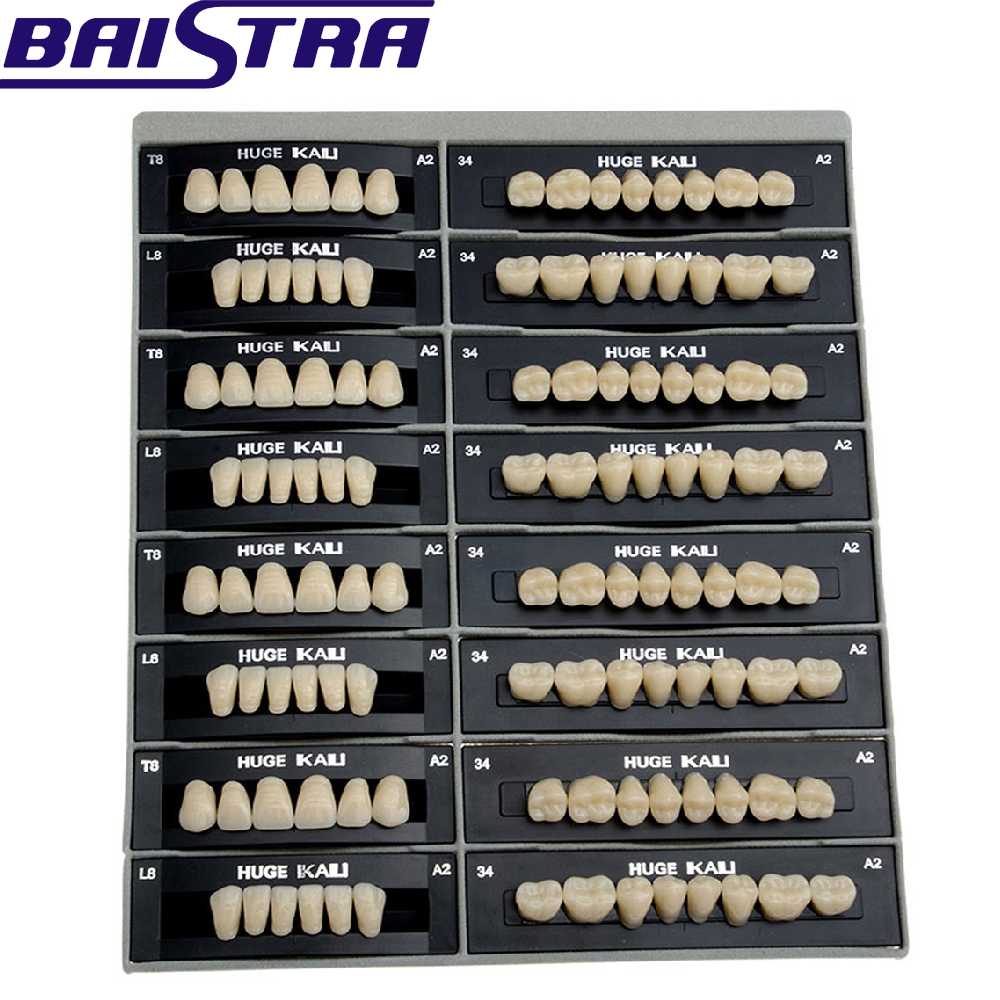 4 Sets /box Dental Synthetic Polymer Teeth Resin Denture A2/A3