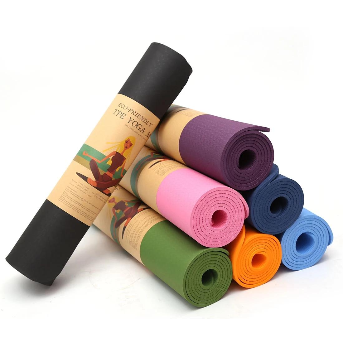 1830*610*6mm TPE Yoga <font><b>Mats</b></font> Indoor Fitnes