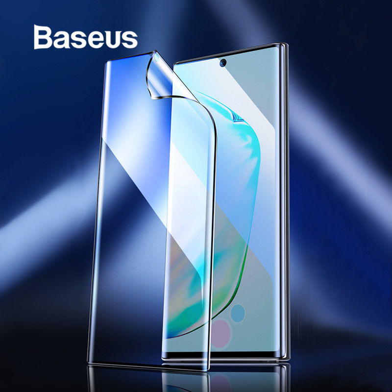 Baseus 2pcs 0.15mm Full Screen Protector Film for Samsung Galaxy Note 10 Note 10 Plus Protective Film for Note 10 Plus Glass-in Phone Screen Protectors from Cellphones & Telecommunications on