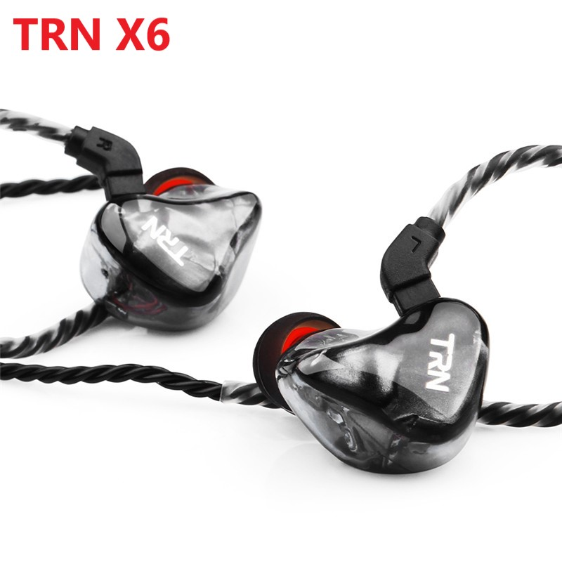 2019 NEW TRN X6 Earphone 6BA Driver Unit 6 Balanced Armature DJ Monitor Running Earphone IEM Detachable 2Pin HIFI Earphone image