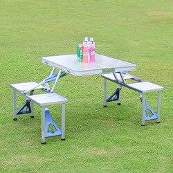 Открытый Портативный Кемпинг Пикник интегрированный складной стол-стул наборы стол стулья набор