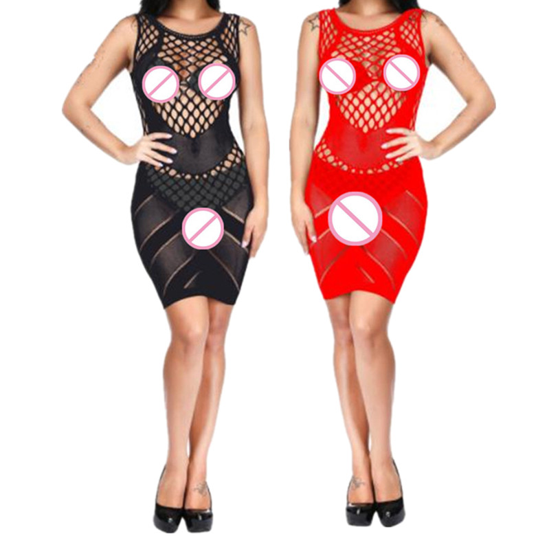 Big Sizes Underwear Femmes Fishnet Lenceria <font><b>Hot</b></font> Porno <font><b>Sexy</b></font> Lingerie Mesh Baby Doll <font><b>Dress</b></font> <font><b>Erotic</b></font> Nighties For Women Sex Costumes image