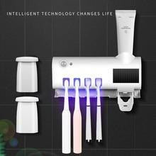 Toothbrush-Holder Solar-Ultraviolet Bathroom-Supplies Wall-Mount-Storage Multifunction