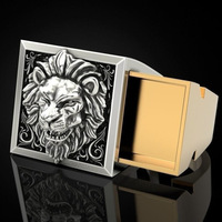 Mens Fashion Accessory 925 Silver Lion Ring Anniversary Gift Hip Hop Unisex Jewelry Men Viking Punk