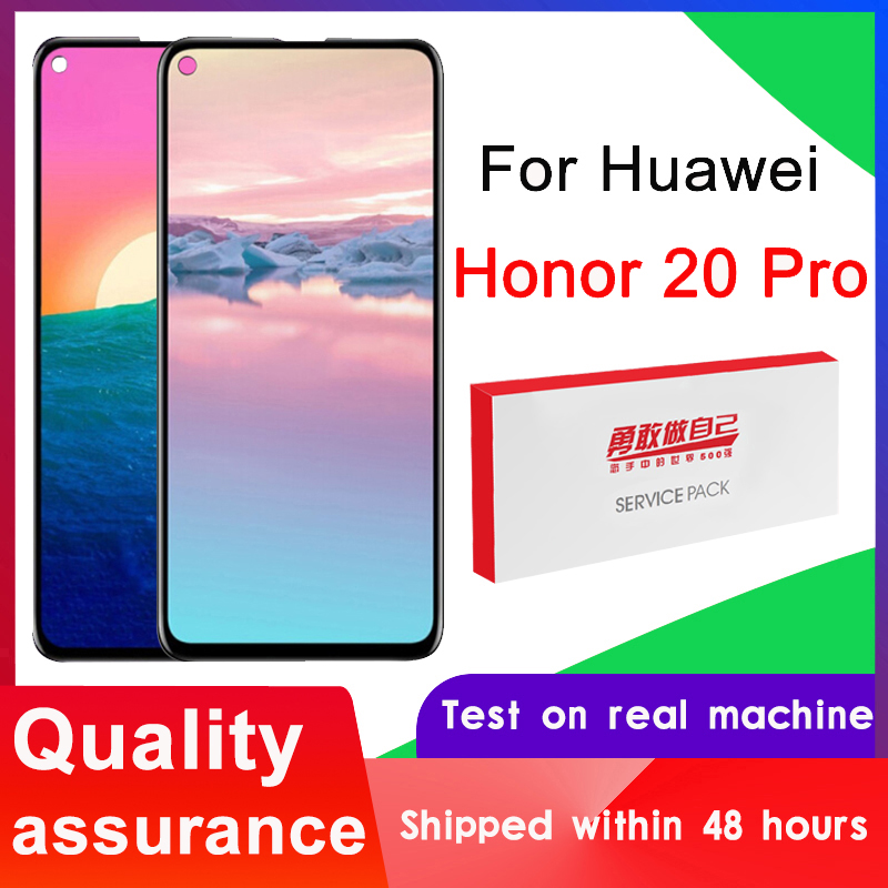 100% протестированный 6,26 ''сменный дисплей для Huawei Honor 20 Pro, ЖК-дисплей с сенсорным экраном, дигитайзер в сборе для искусственных элементов, ЖК-д...