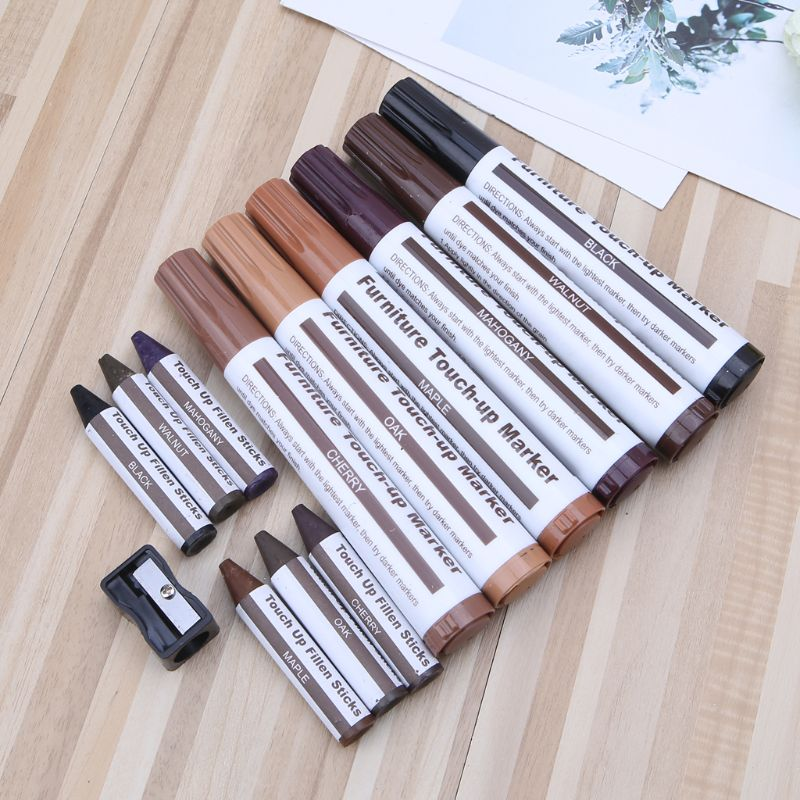 New Design Wood Repair System Kit Filler Sticks Touch Up Marker Floor Furniture Scratch Fix Tool For Home