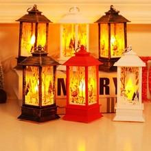 Рождественская свеча, светодиодный чайный светильник, свечи для Рождественского украшения, вечерние украшения для дома, украшение комнаты, аксессуары# T2