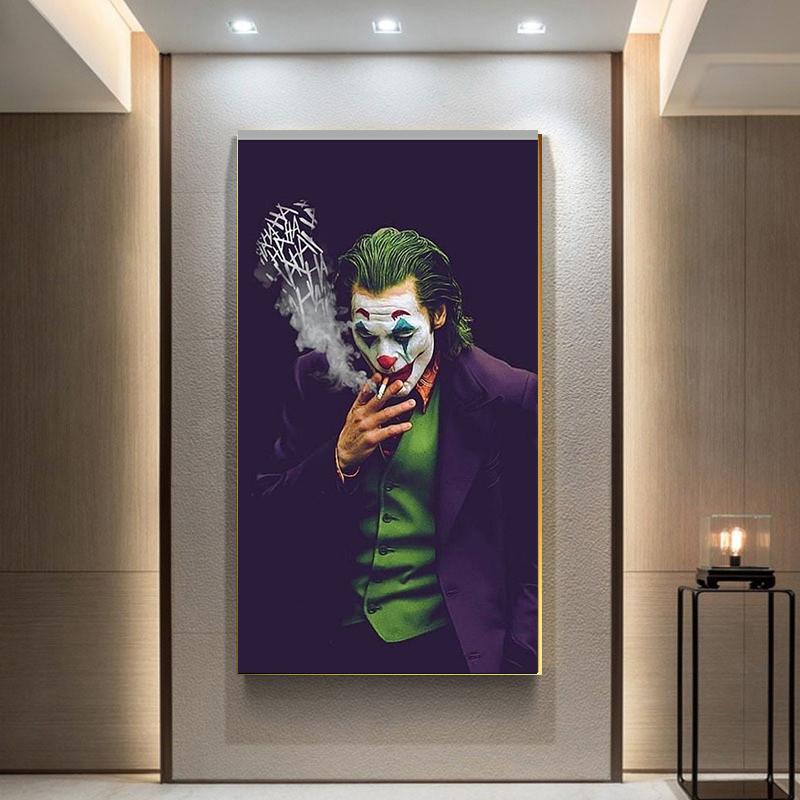 Joker Wall Art Canvas Painting Posters Prints HD Comics Movie 2019 Joker Joaquin Phoenix Picture for Living Room Home Decor(China)