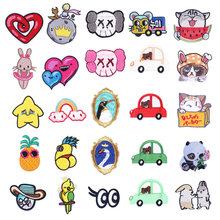 Cute Cat Patch Applique Cartoon Car Embroidered Badge Iron On Patches For Clothing Sew Fabric DIY Apparel Accessories