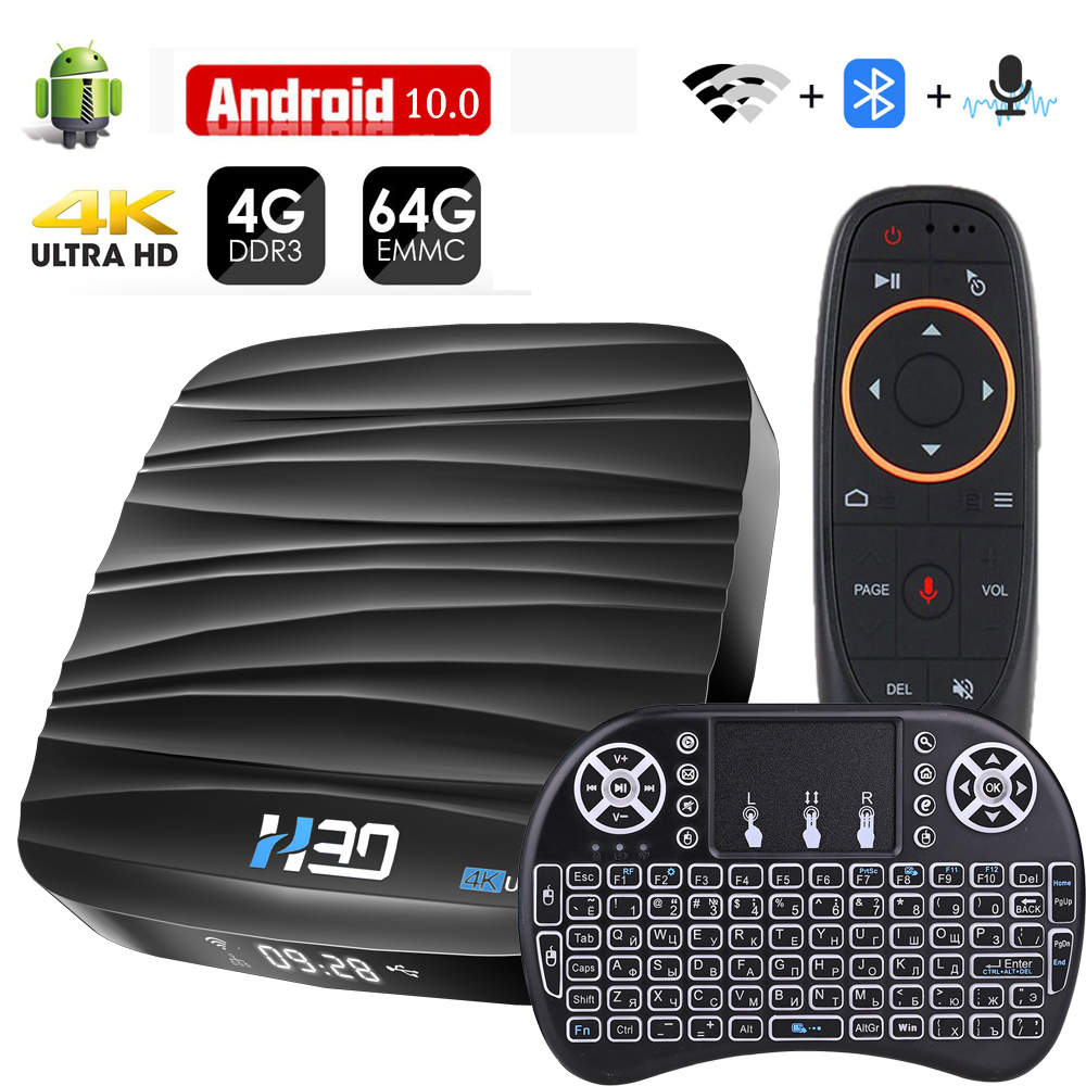 Smart TV Box Android 10 4GB 64GB 4K H.265 Media Player 3D Video Google Assistant Netflix 2.4G 5GHz Wifi TV receiver Set top Box(China)