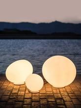 Ltalian White Glass Creative Pebble Decoration Nordic dDzesigner Simple Living Room Hotel Bedroom Bedside LED Lamp
