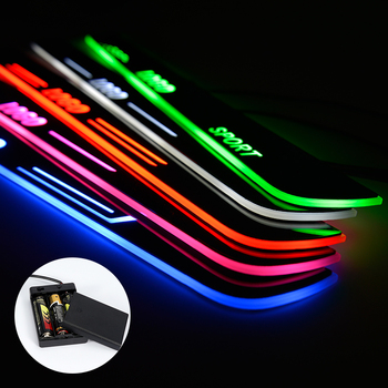LED Door Sill For Mitsubishi Attrage 2016 2017 2018 Streamed Light Scuff Plate Acrylic Battery Car Door Sills Accessories image
