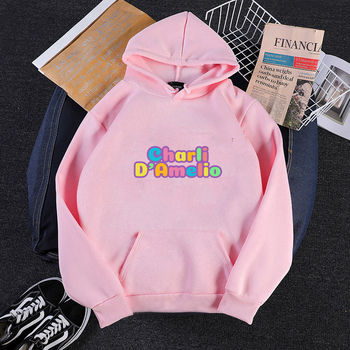 Pink Clothes Hoodie Women Sweatshirt Charli Damelio Mens Hip Hop Hoodies Moletom Feminino Sudadera Oversized  Winter Jacket Coat 10