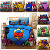 Bedding Set Brawls Cartoon Stars Anime Figure Quilt Cover Pillowcase Kid Child Room Bedclothes Bed Spead Duvet Cover 2/3Pcs Suit