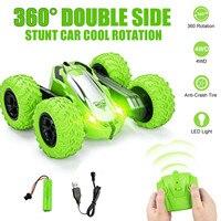 Coche todoterreno teledirigido de cuatro ruedas para niños, diseño de doble cara, acrobático de 360 grados, 12 KM/h de altura, ABS, tir