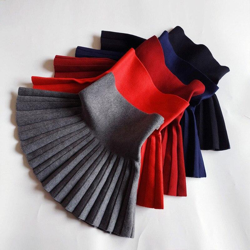 Children's Skirt Kids Pleated Wool Blend Skirt Knit Toddlers Philabeg Baby Toddler Clothes Big Girls Tutu Skirts