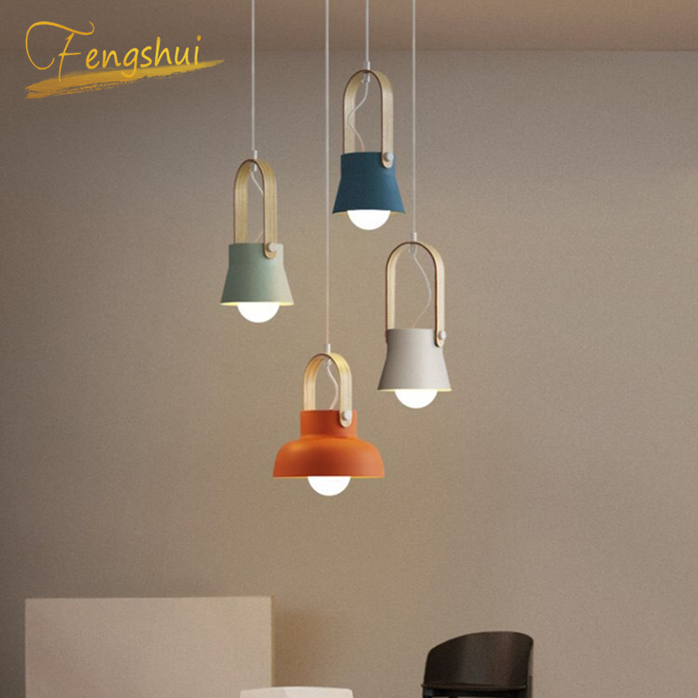 Nordic Loft LED Iron Pendant Lights Restaurant Room Bedroom pendant Lamp Home Indoor Kitchen Fixtures Lighting Luminaire