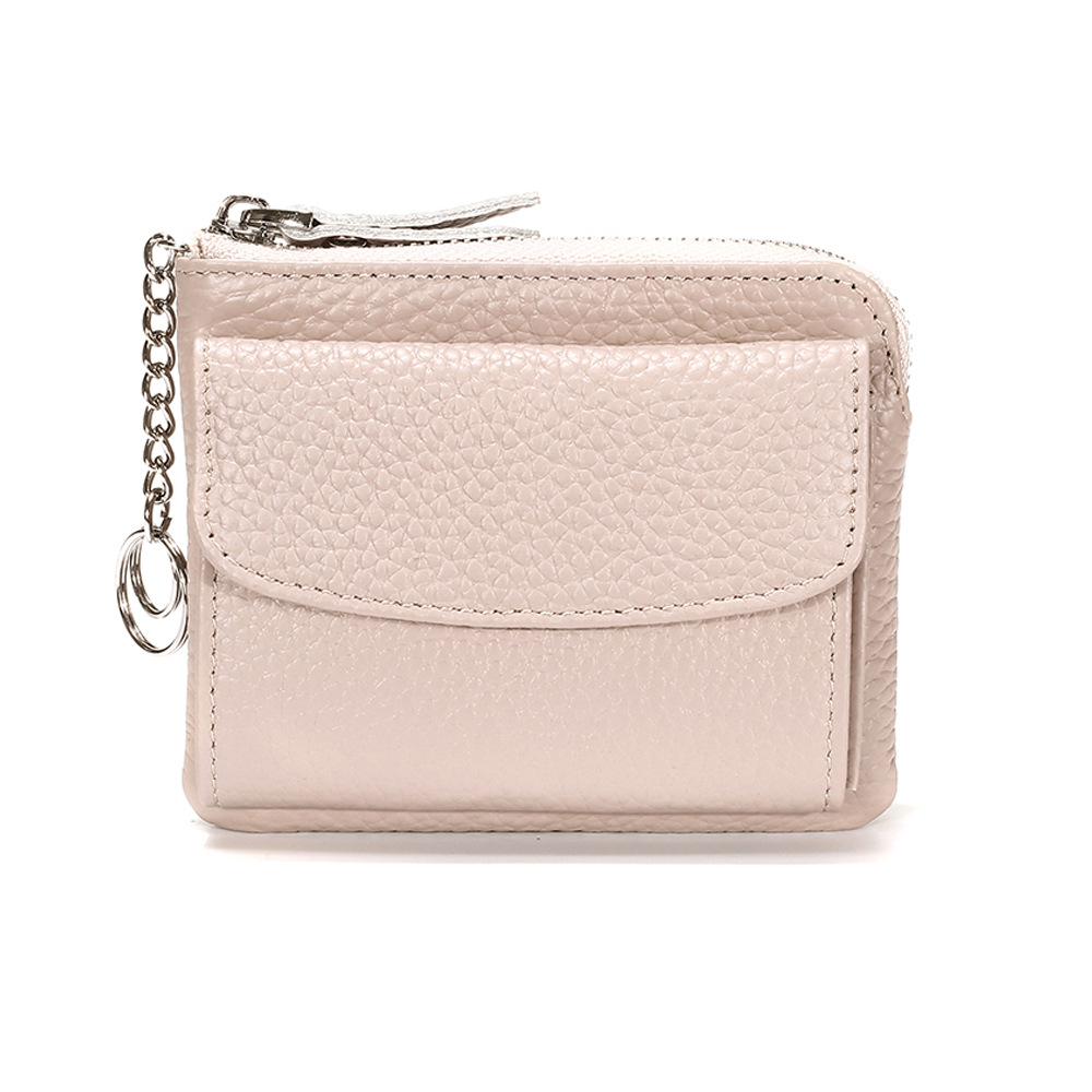 Mini Genuine Leather Women's Wallet Small Luxury Female Card Holder Wallets Slim Cow Leather Lady Money Bag Coin Purses