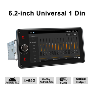 Image 5 - Android 10.0 Car Radio 6.2 inch GPS Navigation 4GB RAM+64GB ROM head unit stereo universal autoradio video player support 4G/BT