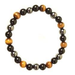 Obsidian Hematite Tiger Eye Men's Bracelet Natural Stone Lithotherapy Health Protection Bracelet for Women Valentine's Day Gift