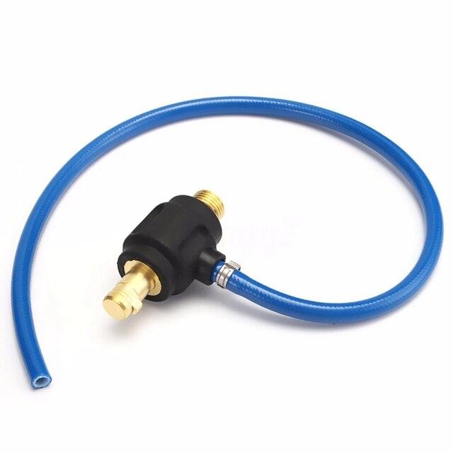 GTBL TIG Power Schweißen Gas Adapter Stecker 35-50 Männlichen M16 M10 Mit 9mm Schnelle Verbindung Für WP 17 18 26 schweißen Fackel