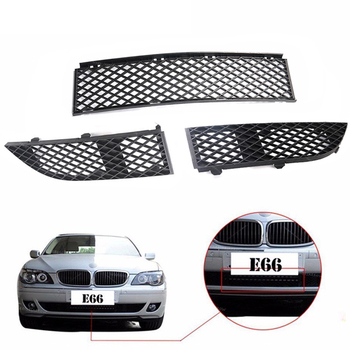 Car Exterior Front Center Left&Right Front Bumper Lower Grille Cover Cap For BMW  E66 750i 750Li 760Li 2005 2006 2007 2008 3Pcs