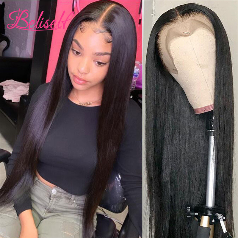 Straight Lace Front Human Hair Wigs Remy Lace Frontal Wig 13X6 Lace Front Wig 250 Density Human Hair Wigs For Women