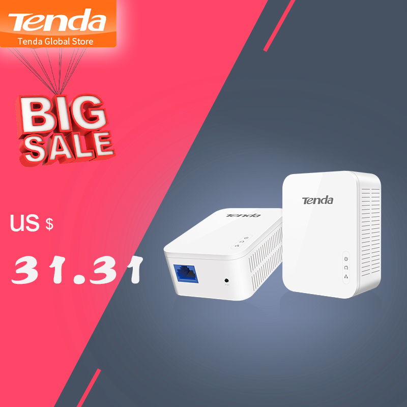 Tenda Network-Adapter Powerline Homeplug Av2 IPTV AV1000 1pair with PH3 High-Compatible