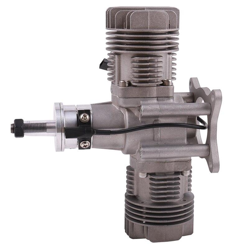 RCGF 30cc Twin Cylinder Petrol/Gasoline Engine Dual Cylinder with Muffler/Ignition/Spark plug for RC Model Airplane - 2