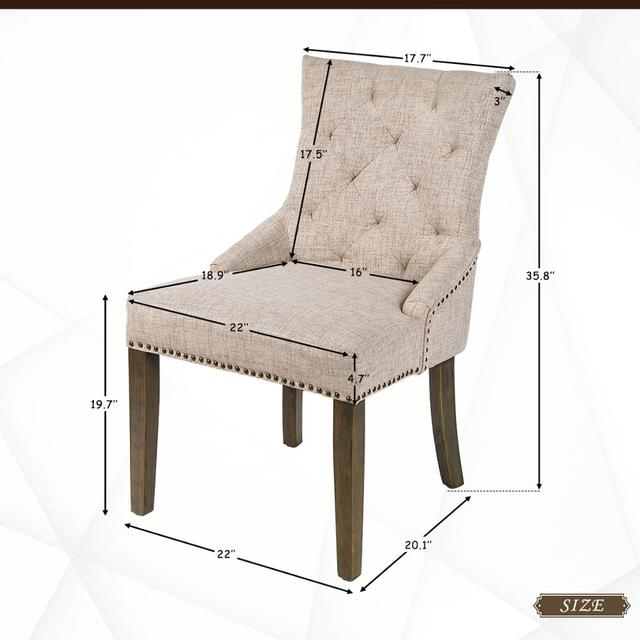 2  Padded Dining Chairs  2