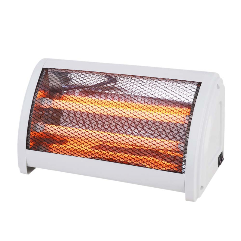 220V Quartz Tube Radiator Electric Heater Household Desktop Air Warmer Quick Heating Tip-Over Power Off 2 Gear(EU Plug)