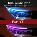 12v Auto LED Tagfahrlicht Weichen Schlauch LED Streifen Weiß Blinker Gelb Lampe Für VW Golf 4 5 6 MK3 Scirocco Polo 9n Caddy