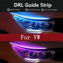 12v Voiture LED Diurne Lumière Douce LED Tube LED BANDE Blanc Clignotant Lampe Jaune Pour VW Golf 4 5 6 MK3 Scirocco Polo 9n Caddy