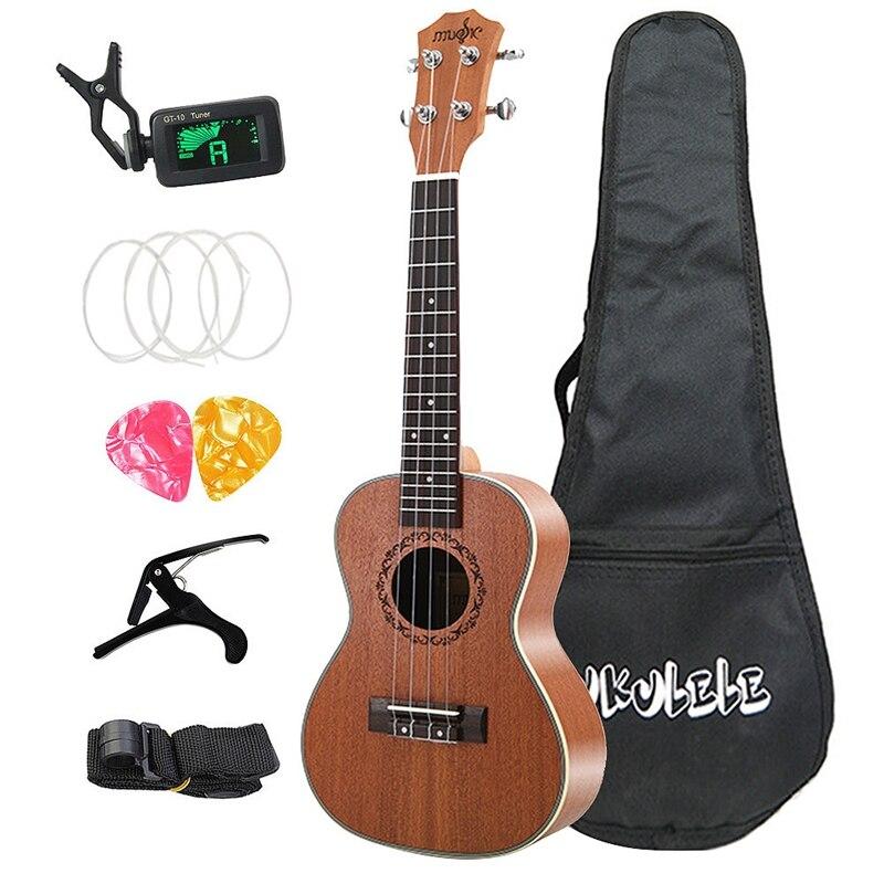 SEWS-21 pouces Soprano ukulélé Hawaii hawaïen Mini guitare Uke Sapele 4 cordes guitare pour guitariste débutants