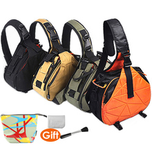 CADEN Sling Shoulder Cross Camera Bags Orange Digital Camera Case Sling Canvas Soft Men Women Bag for Canon Nikon Sony K1 K2
