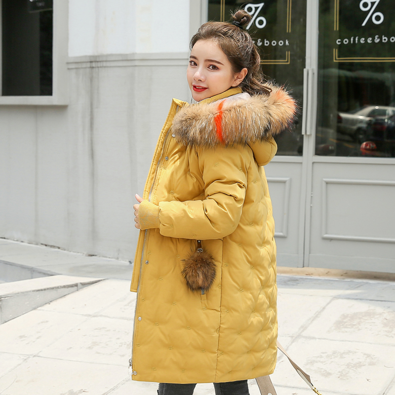 Women&39;s Jacket Large Size 2019 Female Long Hooded Fur Collar Parka_B5_16