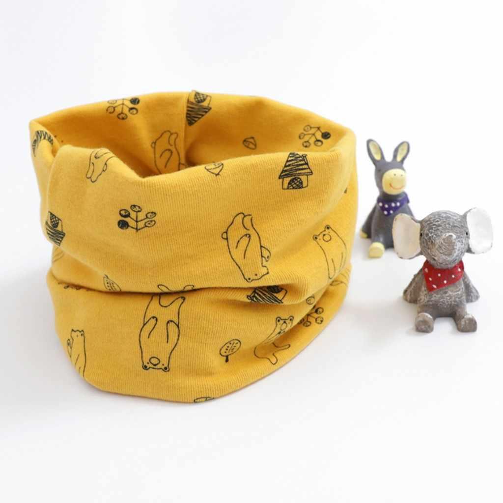 2020 cachecol do bebê inverno do miúdo meninas meninos dos desenhos animados da criança cachecol padrão costura o-anel cachecol do bebê pescoço mais quente scarfs cadeau femme