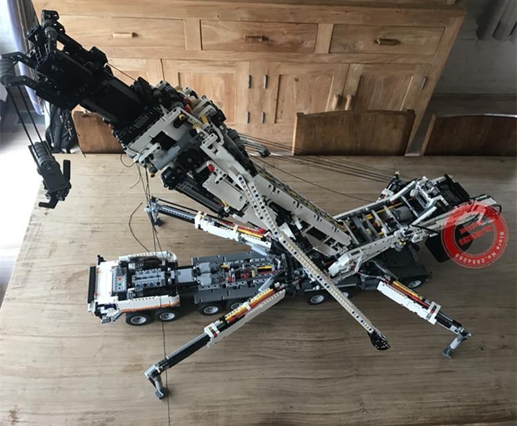 ใหม่ RC มอเตอร์ Power ฟังก์ชั่น Crane LTM11200 Fit Legoings Technic MOC 20920 ชุด Building Blocks อิฐของขวัญของเล่นวันเกิดคริสต์มาส-ใน บล็อก จาก ของเล่นและงานอดิเรก บน   2