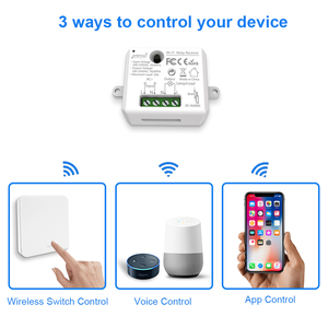 Image 2 - Умный выключатель света с Wi Fi и радиочастотным беспроводным переключателем, не требует батареек, дистанционное управление светом, голосовое управление Alexa Echo Google Home