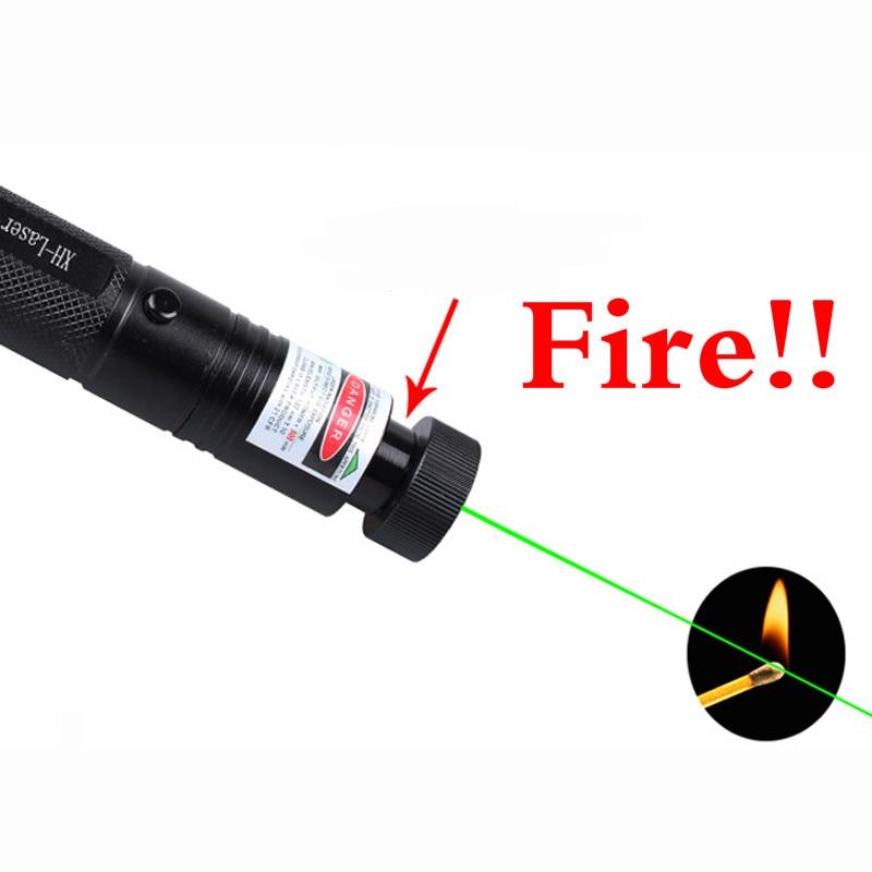 Spontaneous Combustion Laser Pen New Fire Powerful Laser 303 Adjustable Focus 532nm Green Laser Pointer Light Laser Pointer Pen