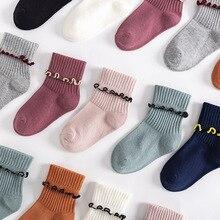 Short Socks Ruffles-Edge Toddler Girls Baby Infant New-Fashion Cotton for Kid Soft