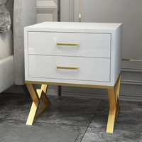 Northern Europe Household Storage Cabinet  Simple White Baking Finish  Modern Mini Multi layer Storage Cabinet|Nightstands| |  -