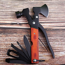 Outdoor Camping Multifunctional Tool Axe Hammer Stainless Steel Folding Knife Vehicle Emergency Hand Tool Screwdriver
